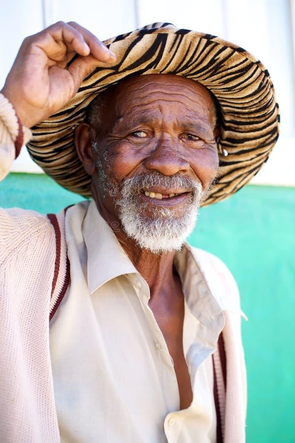 Alter afrikanischer Mann lizenzfreies stockbild