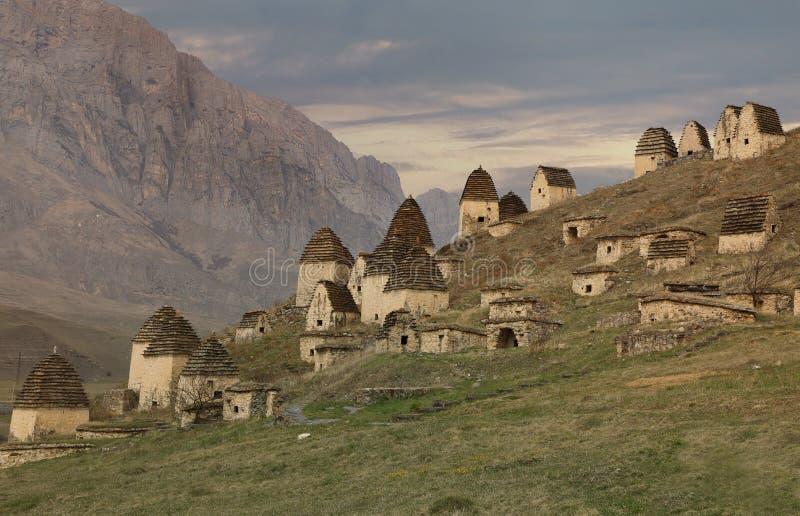 Alter Alanian-Friedhof in den Nord-Ossetien, Russland lizenzfreies stockfoto