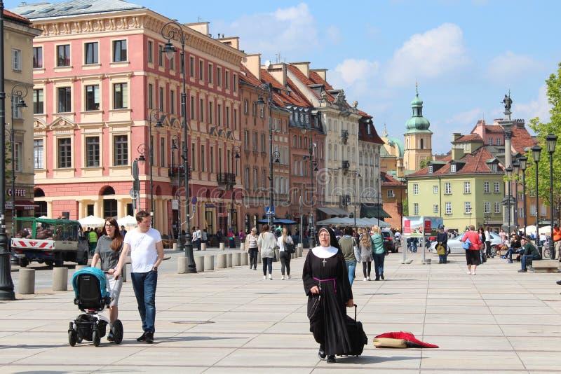 Alter alter Marktplatz Europa Stadt-Bereichs-Warschaus Europas Polen Warschau lizenzfreie stockbilder