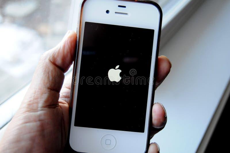 Alter Apfel iphone5 stockfotografie