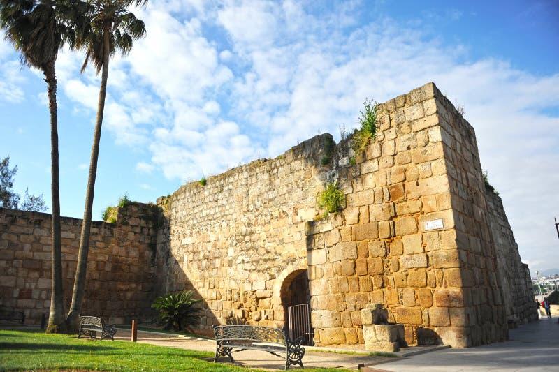 Alter Araber Alcazaba von Mérida, Extremadura, Spanien lizenzfreie stockfotos