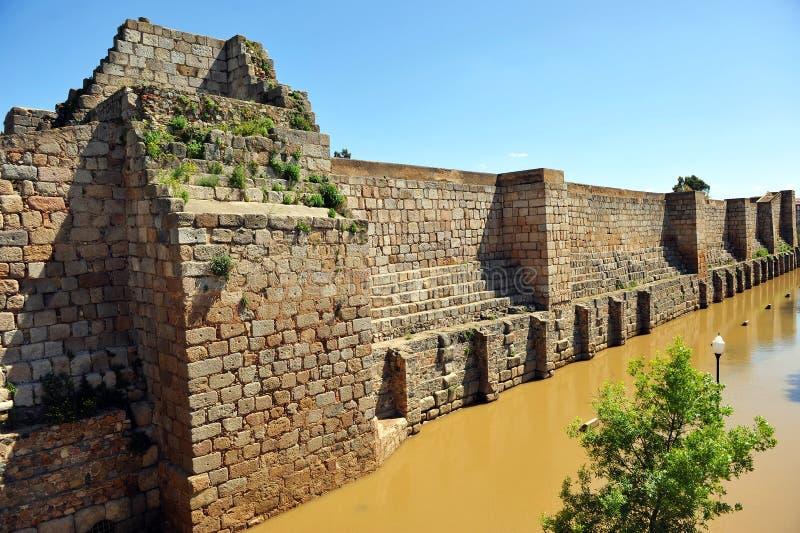Alter Araber Alcazaba von Mérida, Extremadura, Spanien stockfotos