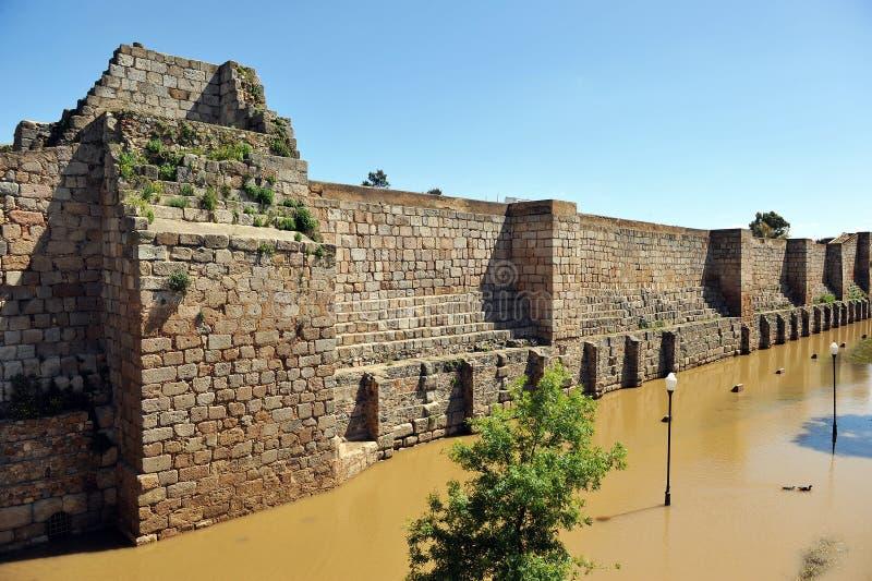 Alter Araber Alcazaba von Mérida, Extremadura, Spanien stockfoto