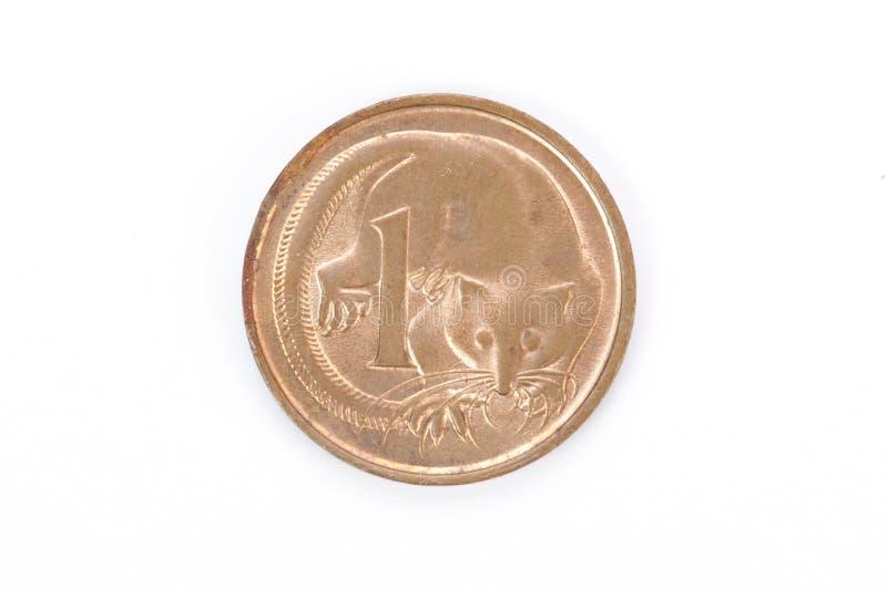 Alter Australier eine Cent-Münze stockfoto