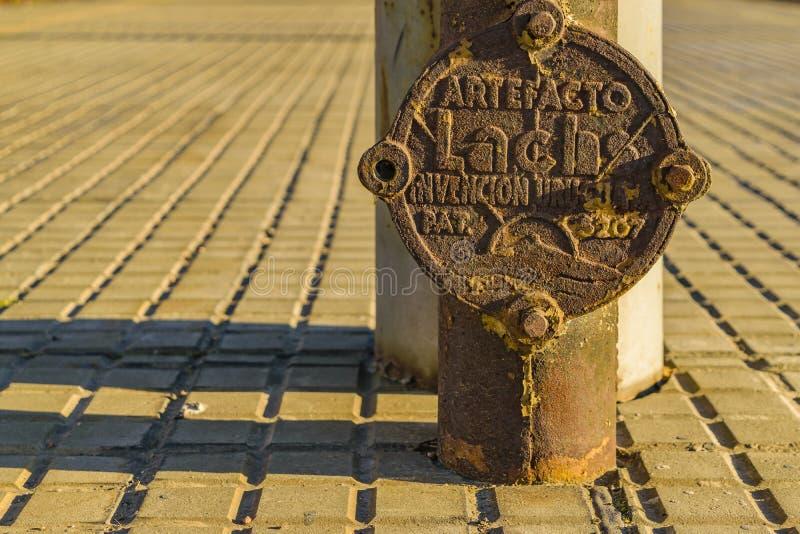 Alter Bahnhof, Montevideo, Uruguay stockfotos