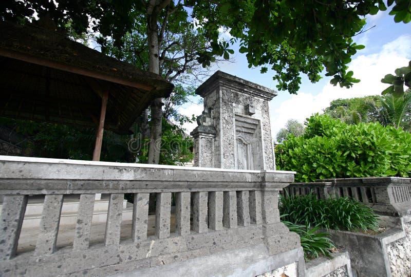 Alter Bali-Hauseingang stockbilder