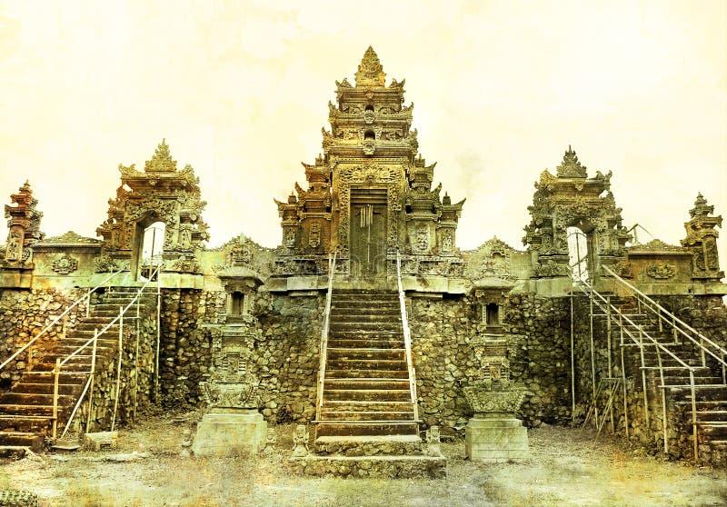 Alter Balinesetempel lizenzfreies stockbild