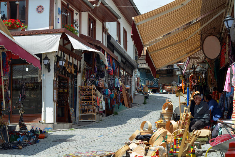 Alter Basar bei Ulus, Ankara lizenzfreies stockfoto