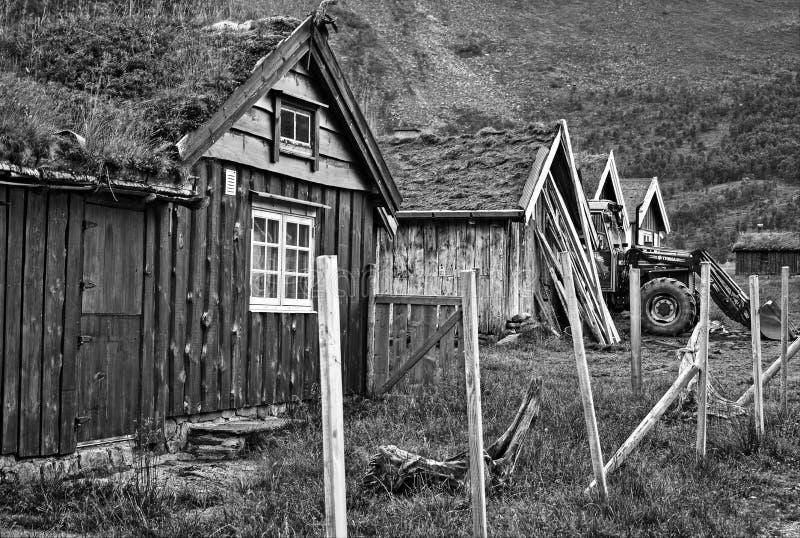 Alter Bauernhof in Geiranger lizenzfreies stockbild