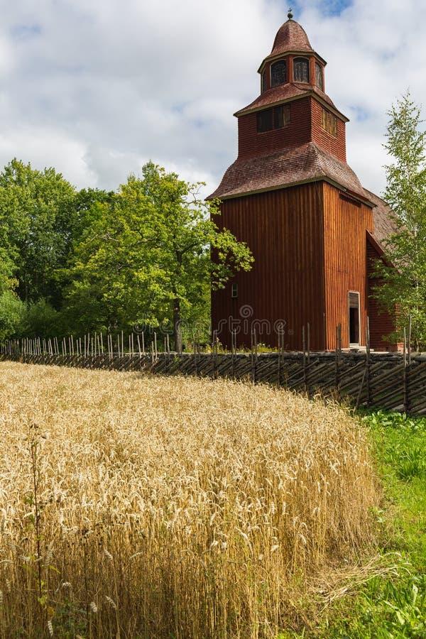Alter Bauernhof in Skansen in Stockholm stockbilder
