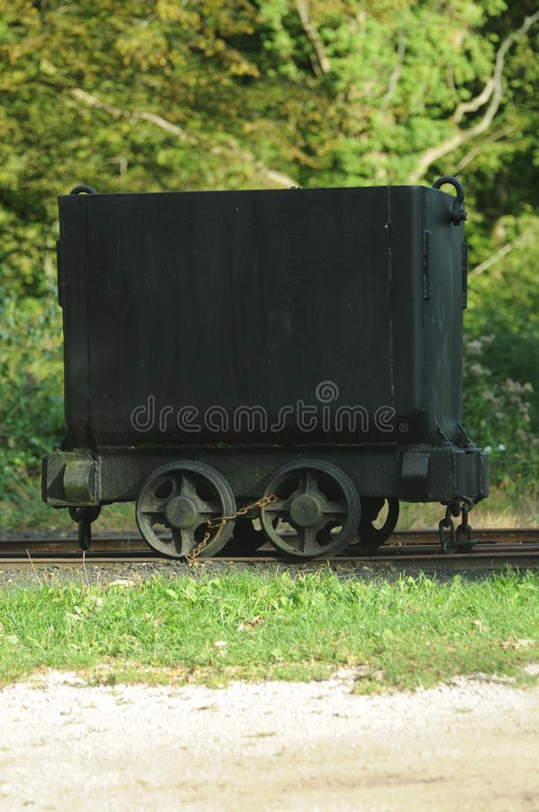 Alter Bergbau-Lastwagen stockfotos