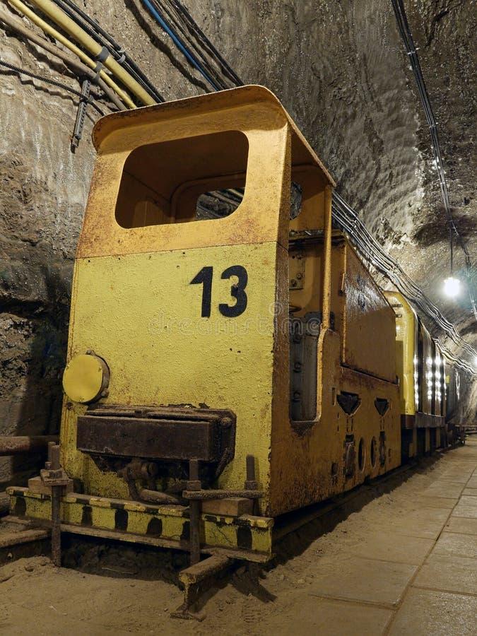 Alter Bergwerkzug lizenzfreie stockfotos