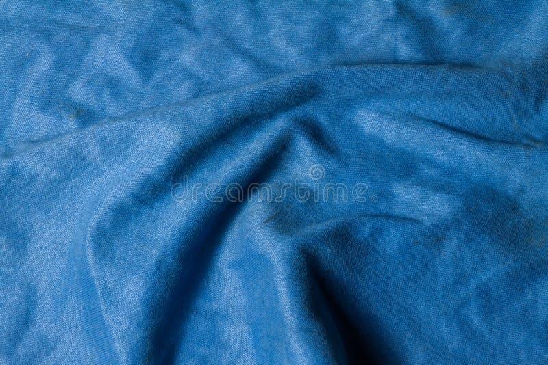 Alter blauer microfiber Stoff stockbild