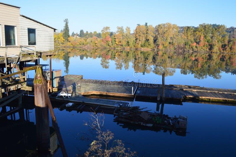 Alter Boathouse lizenzfreie stockbilder