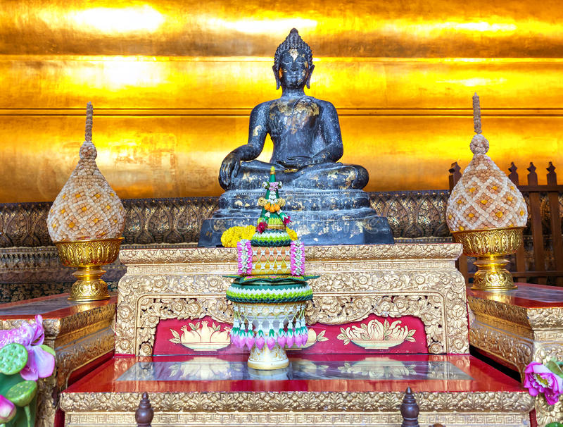 Alter Buddha in Wat Po Temple stockfoto