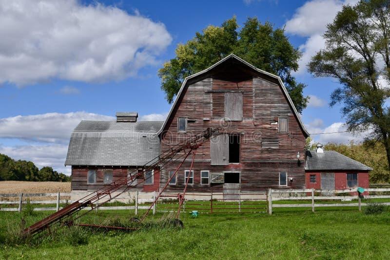 Alter Cass County Barn stockbild