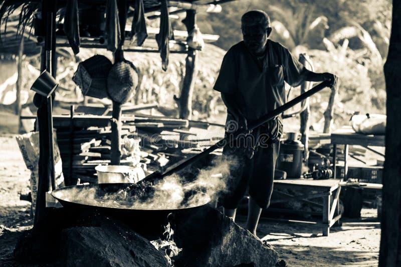Alter Chef in Thailand, das Retro- Thailand stockfotos