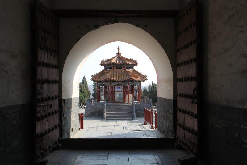 Alter chinesischer Pavillon stockbild