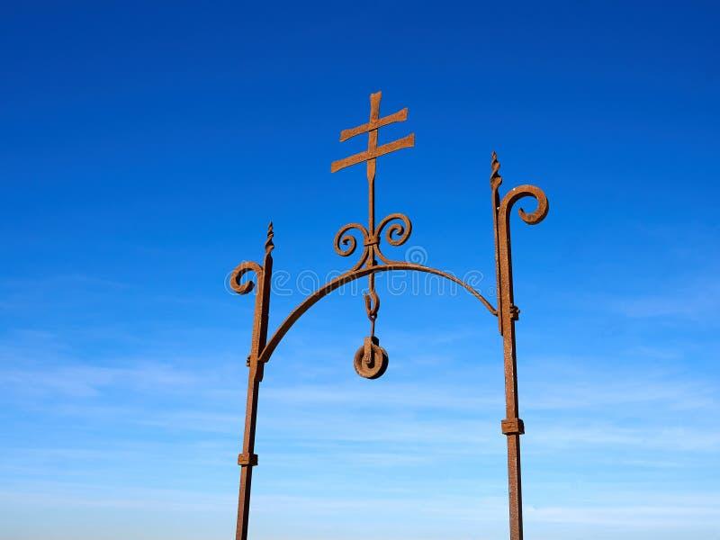 Alter Christ kreuzen vorbei Santa Barbara Castle Castell Alicante C stockfoto