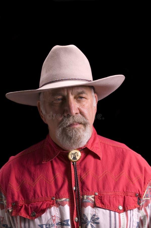 Alter Cowboy, der wie Büffel Bill aussieht lizenzfreie stockfotografie