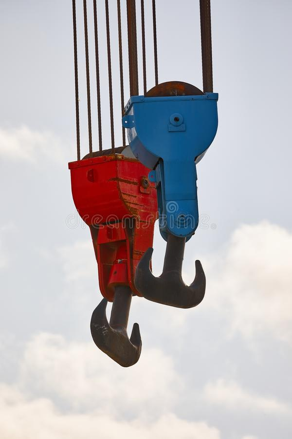Alter Crane Hooks stockfotografie