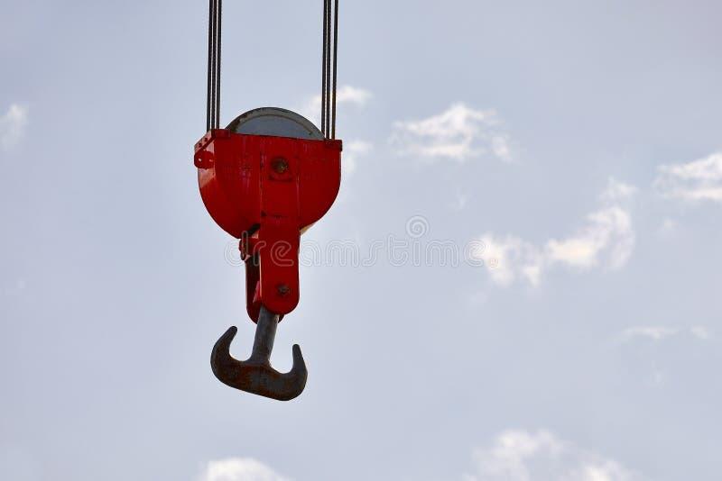 Alter Crane Hooks lizenzfreie stockbilder