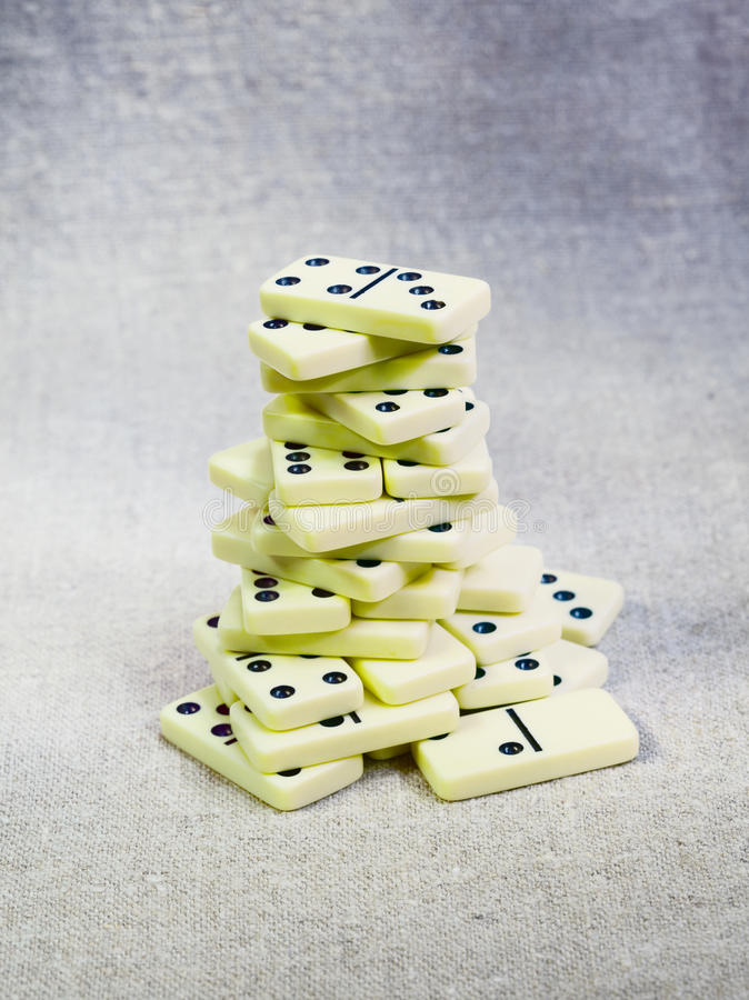 Alter Dominokontrollturm auf Segeltuch stockfotografie