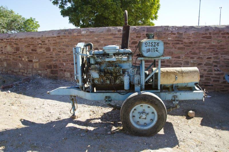 Alter elektrischer Generator in Jodhpur, Indien lizenzfreie stockfotografie