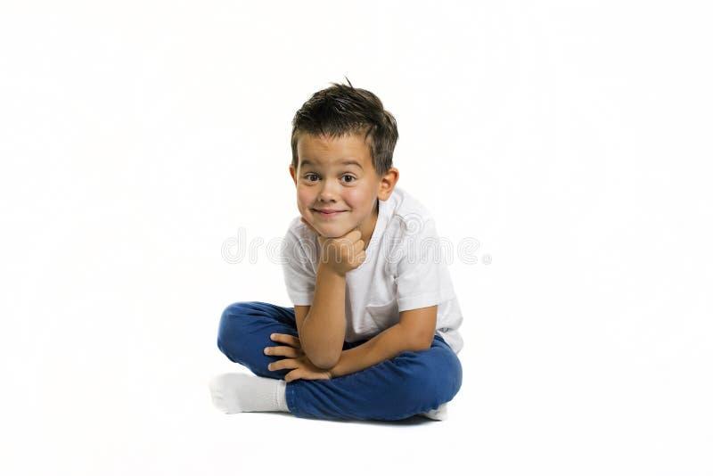 Alter Fünfjahresjunge stockfotografie