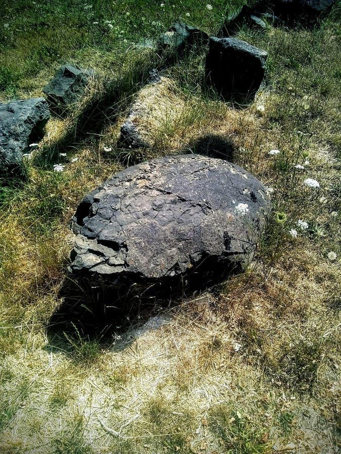 Alter Felsen Art Structure Remains stockbilder