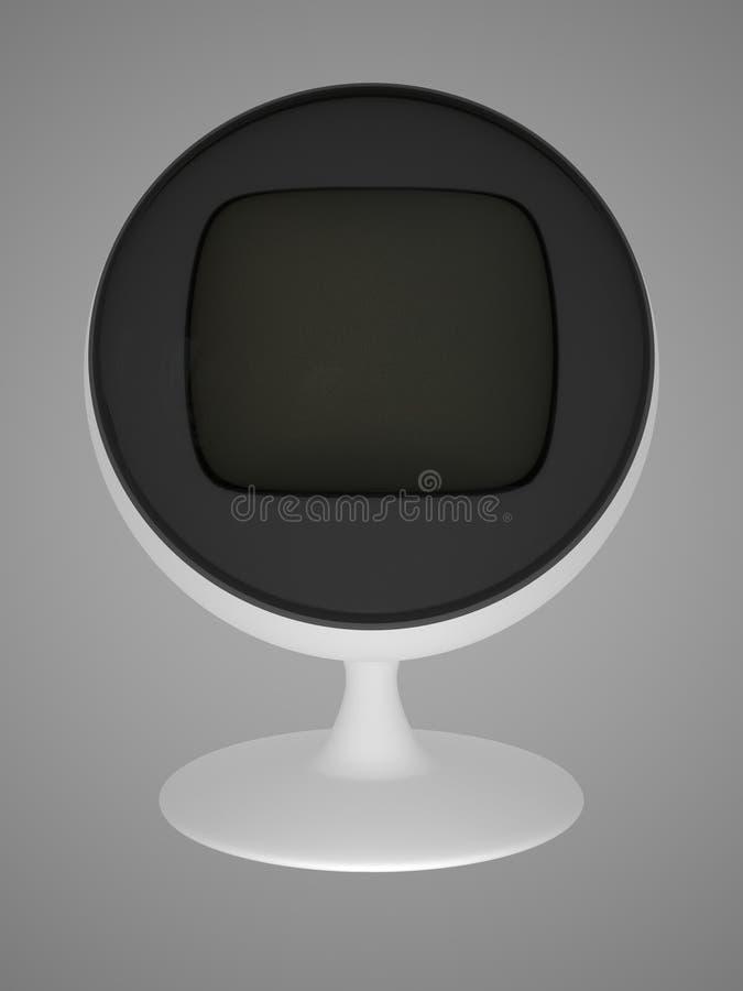 Alter Fernsehapparat lizenzfreie abbildung