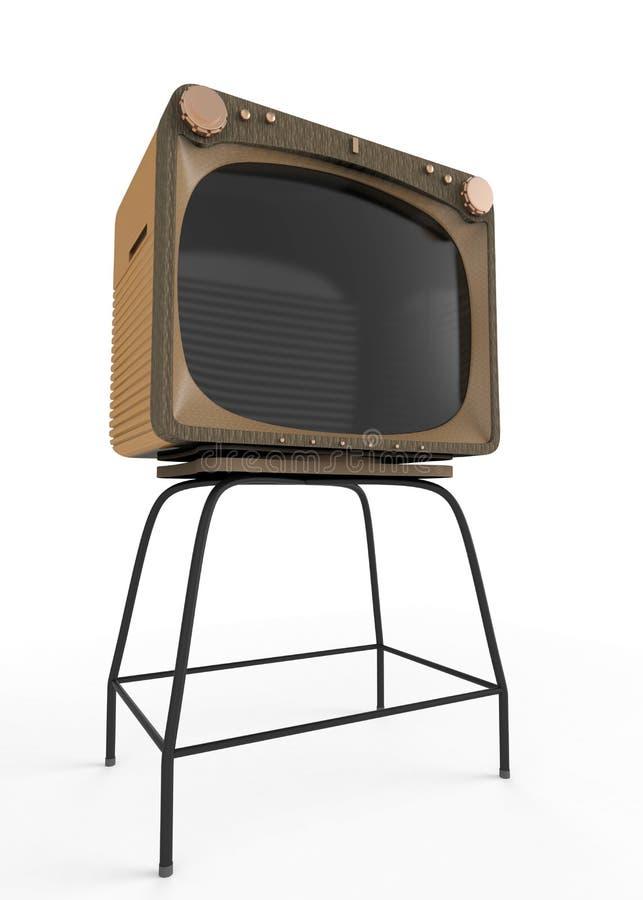 Alter Fernseher lizenzfreie abbildung