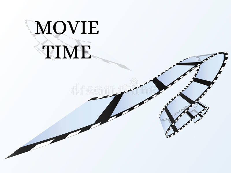Alter Film-Streifen Heller Hintergrund lizenzfreie abbildung