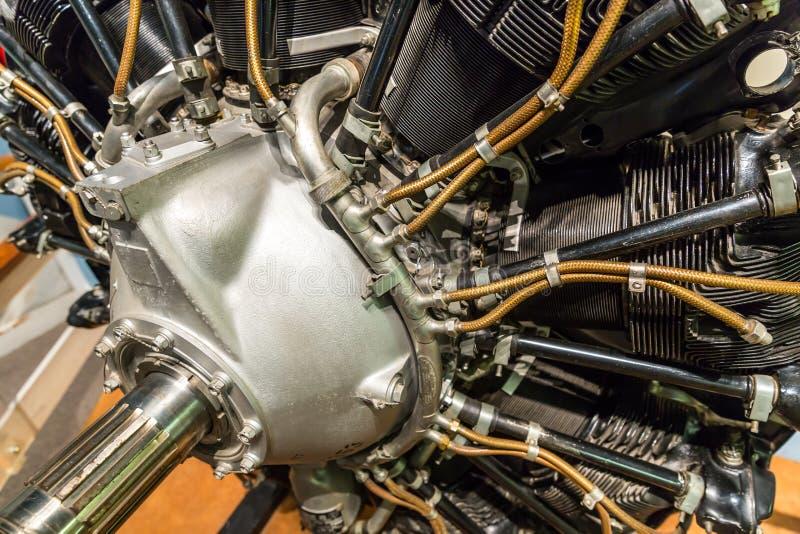 Alter Flugzeugmotor stockfoto
