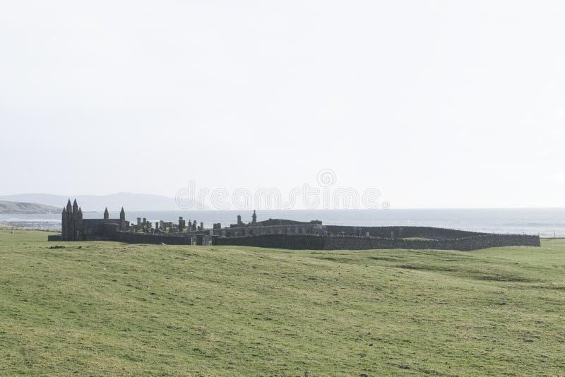 Alter alter Friedhofskirchhof Glenbarr in Kintyre Argyll und hochgebogene Hinterkante Schottland Großbritannien stockbilder