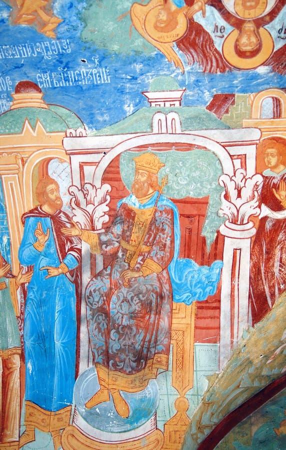 Alter frommer Anstrich Kirche des Saint Nicolas in Yaroslavl, Russland stock abbildung
