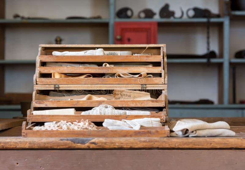 Alter Gemischtwarenladen und Kurzwaren bei Appomattox stockfotografie