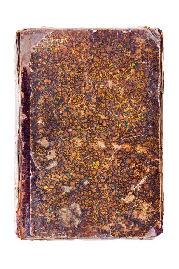 Alter geschädigter Bucheinband stockbilder
