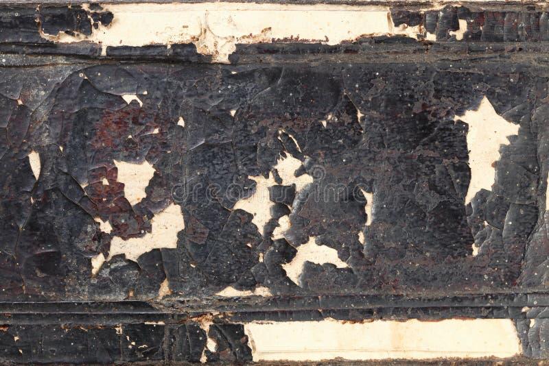 Alter geschädigter und schmutziger Bucheinband lizenzfreies stockfoto