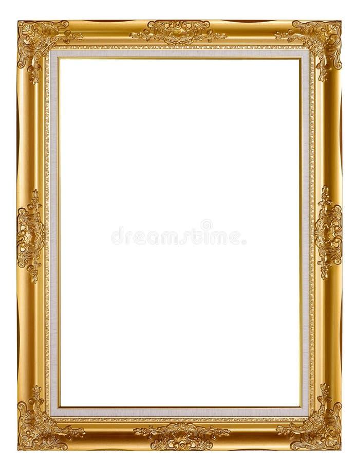 Alter goldener Rahmen stockfoto. Bild von abbildung, leer - 29928474