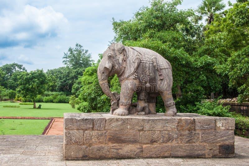 Alter Granit-Elefant stockfotografie