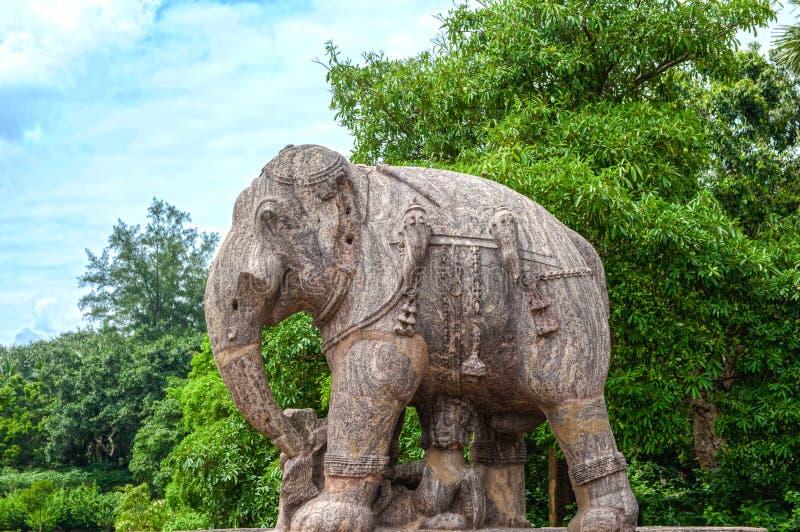 Alter Granit-Elefant stockbild