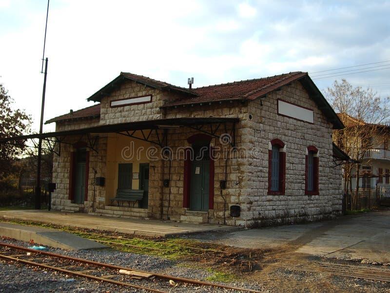 Alter griechischer Bahnhof lizenzfreies stockbild