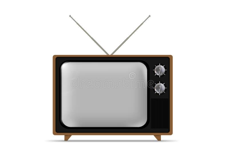 Alter grungy Weinlese Fernsehapparat lizenzfreie abbildung