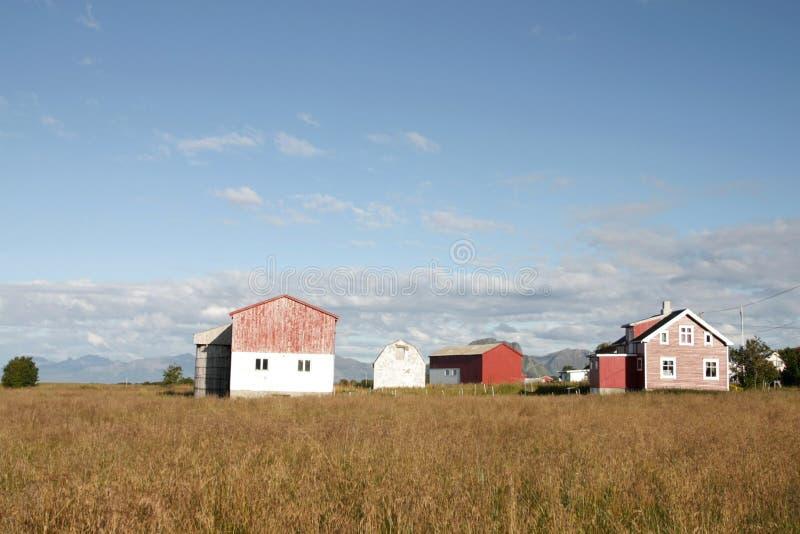 Alter Gymsoy Bauernhof und Hayloft stockfotos