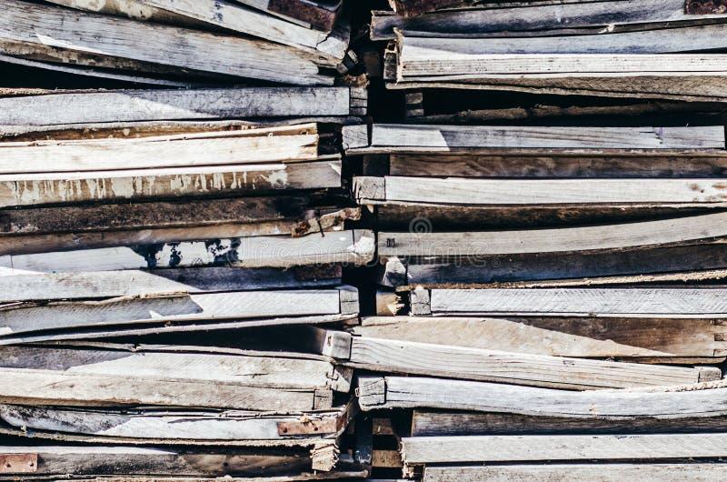 Alter hölzerner Behälterhintergrund stockfoto
