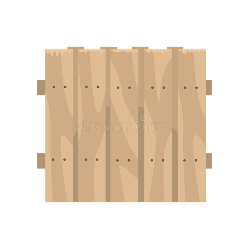 Alter hölzerner brauner Zaun, Grenze für Bauernhof vektor abbildung