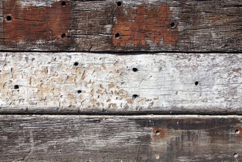 Alter hölzerner Eichenplankenhintergrund lizenzfreie stockbilder
