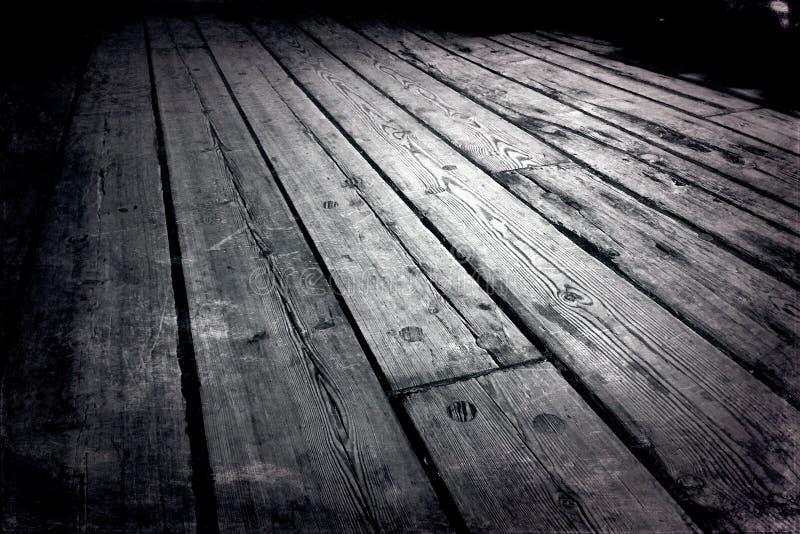 Alter hölzerner Fußboden lizenzfreies stockbild
