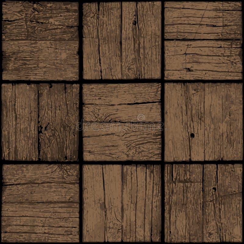Alter hölzerner nahtloser Hintergrund Schmutztabelle oder -Parkettboden V stock abbildung